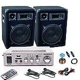 800W Party Karaoke Hifi Musikanlage PA Omnitronic Boxen Bluetooth USB MP3 Verstärker DJ-67