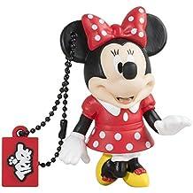 Tribe Disney Minnie Mouse - Memoria USB 2.0 de 8 GB Pendrive Flash Drive de goma con llavero, multicolor