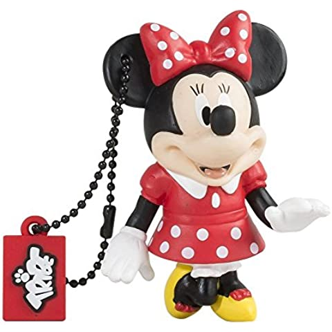 Tribe Disney Pendrive - Memoria USB Flash Drive 2.0, de goma, de 8 GB con llavero, diseño Minnie
