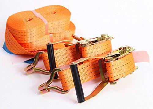 Sferzante cinghia 2-8 m-4t carico arancia cricchetto fissaggio camion rimorchio