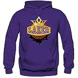 Shirt Happenz I'm a Laker #1 Hoodie Basketball Hoodies Streetball USA Kapuzenpullover, Farbe:Lila (Purple F421);Größe:S