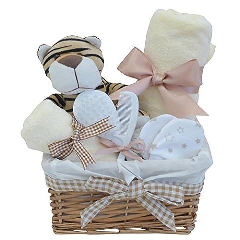 Mr Tiger Wicker Unisex Baby Hamper / Baby Boy /
