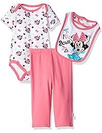 Disney Baby Girls Minnie Mouse 3-Piece Bodysuit