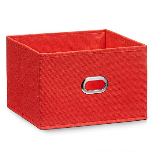 hrungsbox, Vlies, rot, ca. 24 x 23 x 16 cm (Rote Körbe)