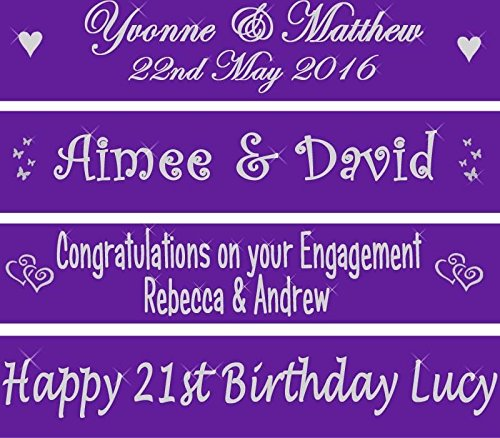 e Fahne Banner 80 cms Perfect decoration for golden anniversaries, 16th 18th 21st 25th 30th 40th 50th 60th birthday parties, wedding engagement, hen parties ()
