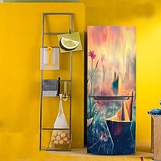 Yazi Stickers frigo américain Wrap Accessoires de décoration de vinyle autocollant, PVC, Ship, 60X150cm/23x59inch