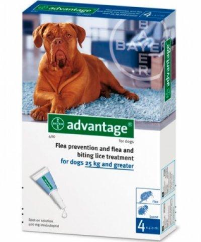 Advantage 400 pour chiens 25-40 kg - 4 Pipettes...