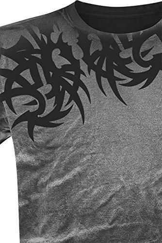 Outer Vision Spine Tattoo T-Shirt grau Grau