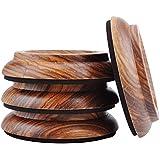 KingPoint, lot de 4 coupelles en bois dur pour roulette de piano droit, tampons de protection pour pieds de meuble Zebra wood