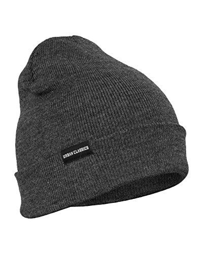Urban Classics Basic Flap Beanie, Color:charcoal;Größe:one size