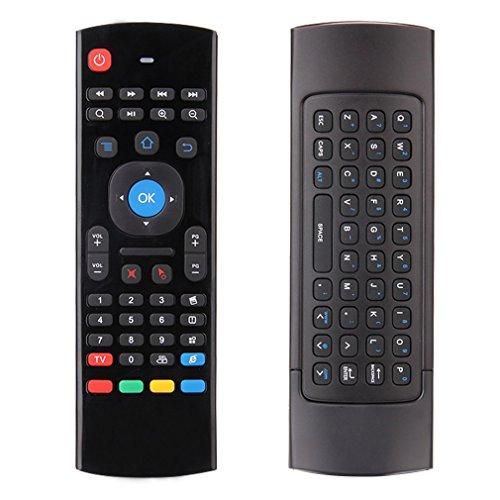 Telecomando Universale Mini Tastiera Wireless con USB Hi-Fi Anti-Shake, 2.4 GHz 10 M Wireless Adatto per PC, TV Intelligente Android, Proiettore, Notebook, Android TV box, Android TV Dongle, ecc.