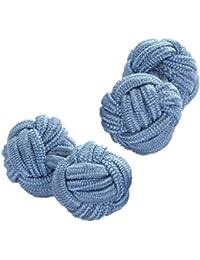 Blue Shade Silk Knot Cufflinks | Cuffs & Co