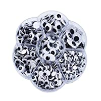 700 Wiggle Eyes Googly Eyes Environmental Self Adhesive DIY Crafts, Assorted Sizes from 4mm -10mm