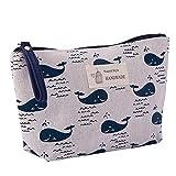 MoGist cosmetici borsa multifunzionale Canvas carte pacchetto–Borsa grande capacità Costituzione Borsa lettere lavaggio da donna, stile 3, 13 * 21 CM
