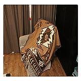 127x 152,4cm Tapisserie Geometrische Tribal Bohemian Azteken Design Überwurf Decke Wandbehänge Teppiche gewebte Baumwolle Jacquard