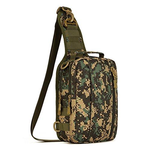 YAAGLE Outdoor Brustbeutel Handtasche Rucksack Fahrradtasche Herren Taschen Freizeit IPAD Schultertasche Gepäck multifunktional Reisetasche Kuriertasche-Tarnung 3 Tarnung 2