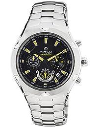 Titan Octane Chronograph Black Dial Men's Watch - NE9468SM01J