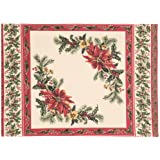 Avril Cornell Sampler Ecru Holiday Lot de 4 sets de table