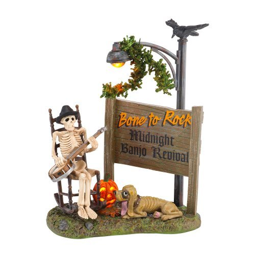 Department 56 4025401 Halloween Accessories for Dept 56 Village Collections Bone To Rock Village Accessory, 5.79-Inch by Department 56
