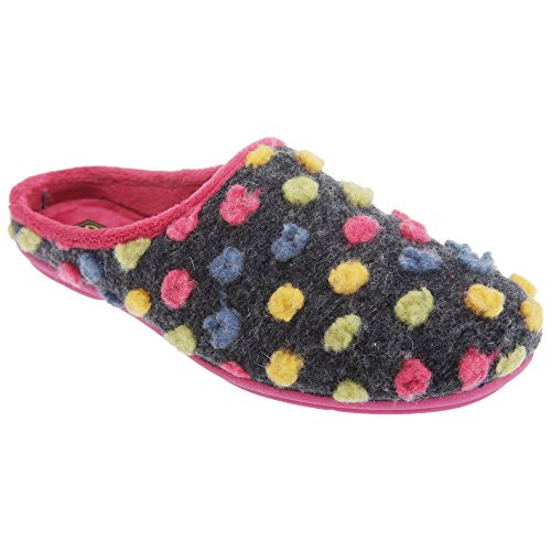 Sleepers Amy - Chaussons mules à pois - Femme Fuchsia