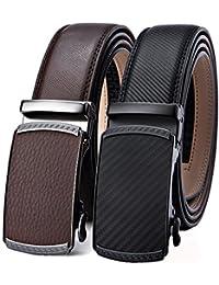 BULLIANT Hombre Cinturón-Cuero Automática Cinturón De Hombre 35MM-Tamaño  Ajuste 4fe04f6eb575