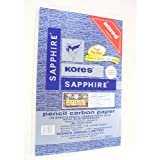 Kores Pen/Pencil Carbon Paper, Sapphire Blue - Pack of 100 Sheets