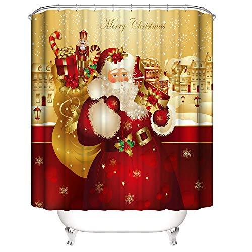 Impermeable Navidad Papá Noel Cortina ducha Juego