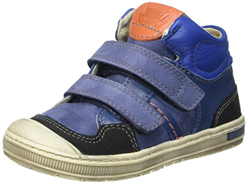 Kickers Igor, Baskets Basses Garçon Bleu (Bleu/Orange)
