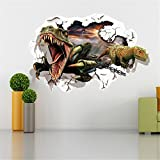 Christmas Gift Holiday Shopping Hot Sale Christmas Gift 3d Dinosaur Removable Mural Wall Stickers Wall Decal for Kids Children Room Home Decor