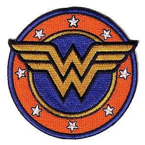 Wonder Woman Badge bestickt Patch 9cm oder Aufnäher Aufbügler ()