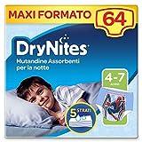 Drynites Mutandine Assorbenti per la Notte per Bambino, 17-30 Kg, 4 Confezioni da 16 Pezzi