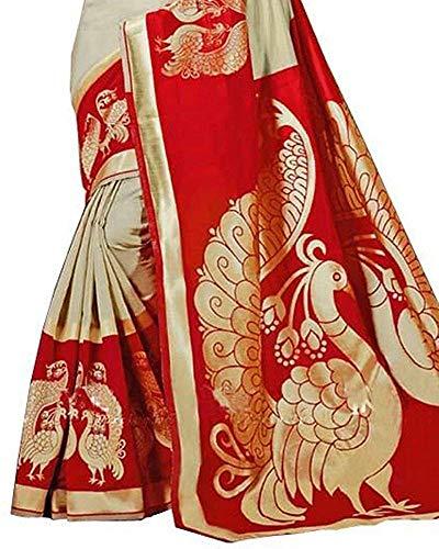 Gauri Laxmi Enterprise GLE Women's Art Silk Saree (Red)