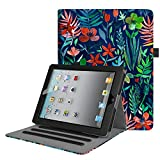 Fintie iPad 2/3 / 4 Custodia - [Multi-angli] Slim Fit Folio Smart Pieghevole Cover con Auto Svegliati/Sonno per Apple iPad 2 / iPad 3 / iPad 4 Retina (con Tasca per le Schede), Jungle Night