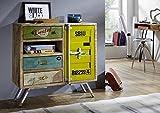 MASSIVMOEBEL24.DE Mangoholz Eisen Massivmöbel Massiv Holz Industrial-Stil Sideboard Massiv Möbel Mango Massivholz Lackiert Mehrfarbig Liverpool #22