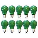10 x Glühbirne 40W E27 Grün Glühlampe 40 Watt Glühbirnen Glühlampen dimmbar für außen und innen Party Deko (Grün)