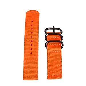 Pottoa Mode Uhrenarmband – Ersatband aus Nylon für 20mm/22mm/24mm Armband Damen&Herren,Schwarz/Blau/Grün/Grau/Orange/Weiß