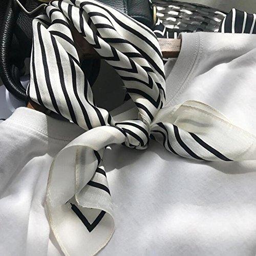 Unbekannt Kleiner quadratischer weiblicher Frühling und Sommer Silk Silk Schal Multifunktionsschal (Silk Häkeln)