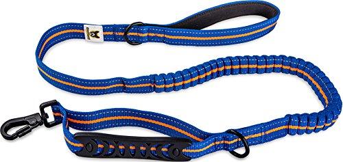 Elastische Hundeleine 120 cm Blau-Orange Führleine von Hundefreund