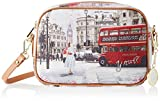 YNOT Crossbody, Borsa a Tracolla Donna, Multicolore (Multicolore Bus Ride), 3x16.5x23.5 cm (W x H x L)