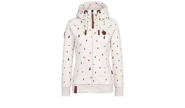 Naketano That Is Your Oath Zip Hoodie Oma Melange For Women