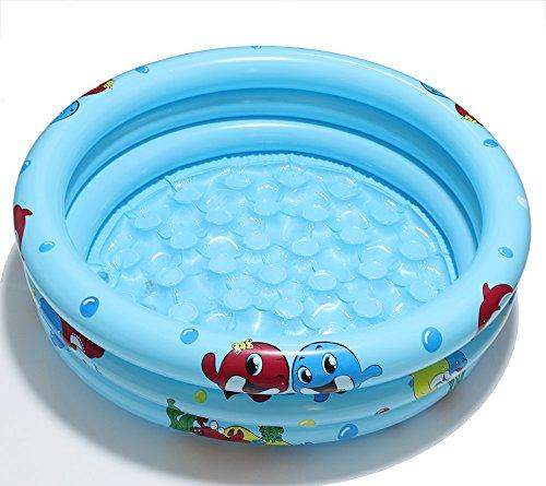 Autbye Baby Pool Schwimmbad Aufblasbarer Pool 2018 Dauerhaftes Freundliches PVC 36 x 10 Zoll Planschbecken Tragbares im Freien Innenkind Becken Badewanne Bällebecken (Blau)