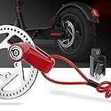 TOMALL Freno a disco rosso Blocco antifurto Filo di acciaio per Xiaomi Mijia M365 Ruote per bicicletta moto Armadietto con promemoria Corda