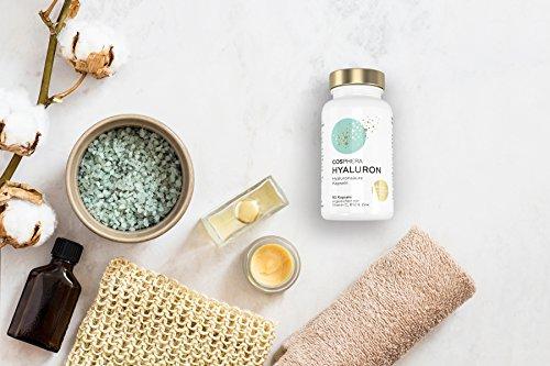 Hyaluronsäure Kapseln – Hochdosiert mit 350 mg pro Kapsel. 90 vegane Kapseln im 3 Monatsvorrat – 500-700 kDa – Angereichert mit Vitamin C, B12 und Zink – Für Haut, Anti-Aging und Gelenke – Cosphera - 5