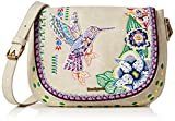 Desigual Women's BOLS_VARSOVIA White Weekend Cross-Body Bag, Beige (1001), 5x18x14 ...