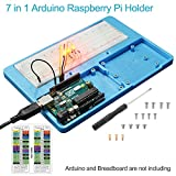 UNIROI Breadboard Kit RAB Holder, 830 Points Solderless Circuit Breadboard, Jumper Wires, LED, Resistors for Arduino UNO R3, Mega 2560 & Raspberry Pi 3 Model B, 2 Model B and 1 Model B+ UA031
