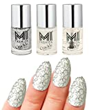 #4: MI Fashion® Professional Crackle Silver Glitter Magic 3Pcs Long Stay Nail Polish