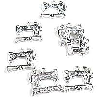 1710 piezas de abalorios de plata envejecida F5SM7Z para máquina de coser, manualidades y manualidades