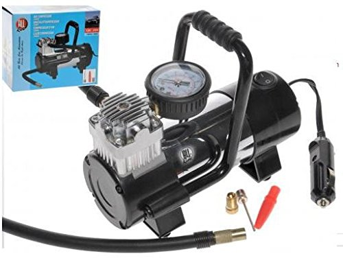 Allride mini compressore aria 12v portatile professionale per auto e moto 100psi 7bar con accessori