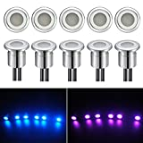RGB Color Changing LED Deck Decking Plinth lights IP67 0.8W Ideal for Kitchen Plinths, Patio Lighting, Stairs Outdoor use Pack of 10 (Energy Class A)