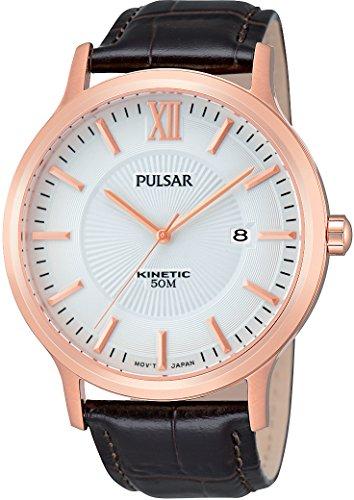 Pulsar Herren-Armbanduhr Analog Quarz Leder PAR184X1